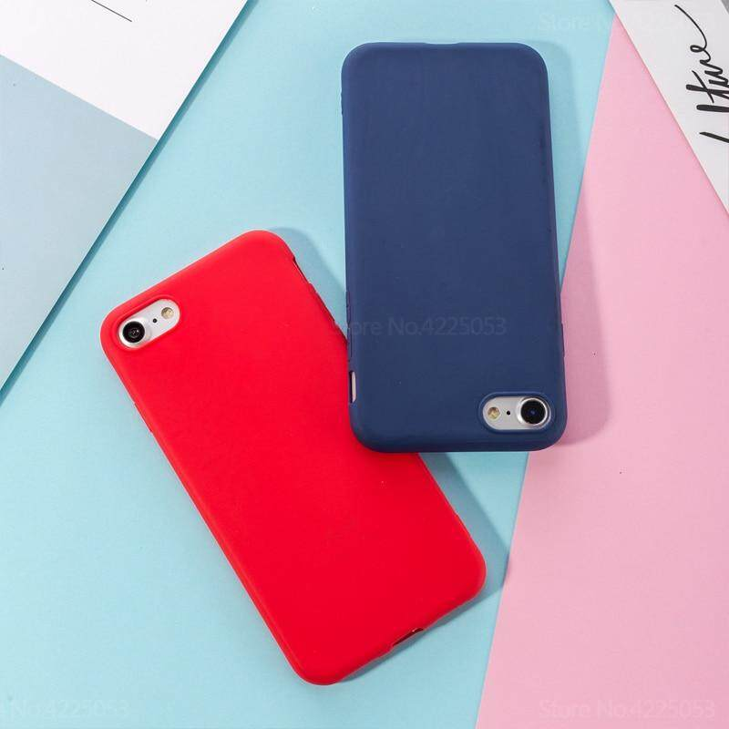 Macarons Color Soft TPU Case for iPhone 6 Plus 6s Plus Simple Solid Color Back Frosted