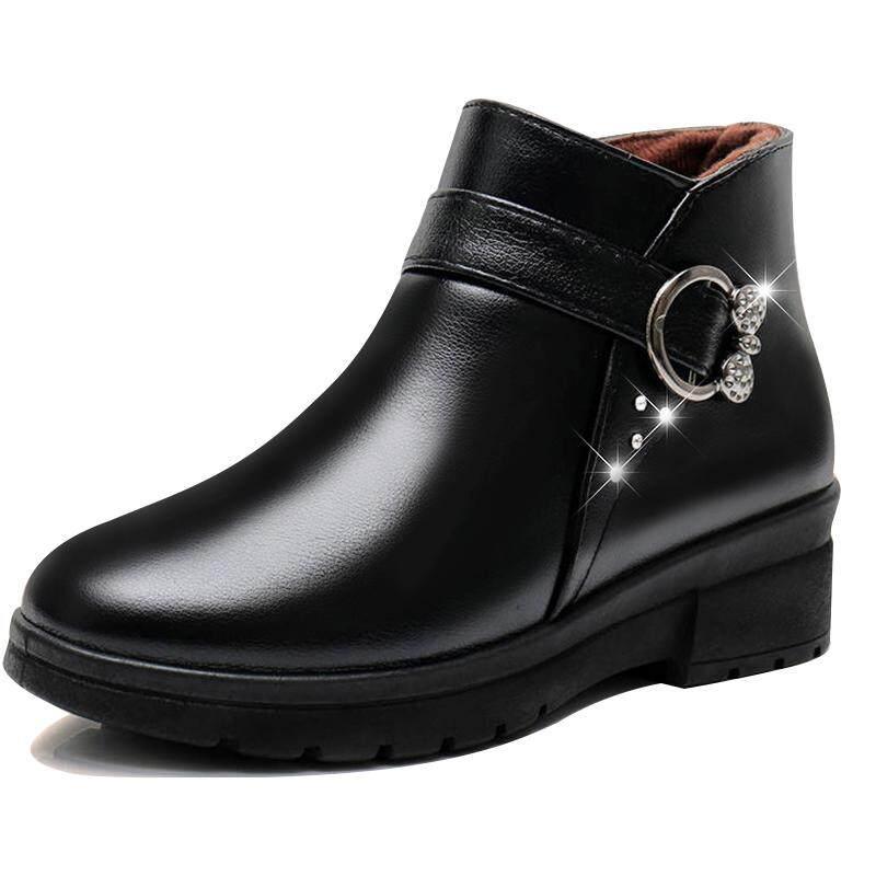 Giá Cực Tốt Khi Mua Mới Mềm Mại-Đế Mẹ Vải Cotton Cho Người Trung Niên Và Phụ Nữ Cao Tuổi Mềm Mại-Đế Mềm Mại-Đế Không -Dép Bông Giày Và Nhung Ấm Giày Boots