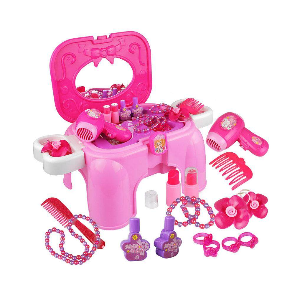 pretty nice e6049 666f3 RYT toys for boys girls kids baby Children's play house girl princess  dressing table toy set makeup box dressing table makeup lipstick toy