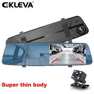 Ekleva 4.3 Inch Full HD 1080P Camera DVR Cho Xe Gương Chiếu Hậu DVR Máy Ghi Hình Kĩ Thuật Số Đăng Ký Ống Kính Kép Camera Hành Trình Tự Động Cơ Thể Siêu Mỏng thumbnail