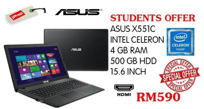 Students Offer Asus X551C INTEL CELERON 4 GB RAM 500 GB HDD 15.6 INCH Malaysia