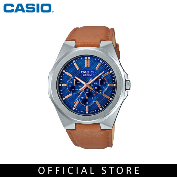 Casio General MTP-SW330L-2A Light Brown Leather Band Men Watch Malaysia