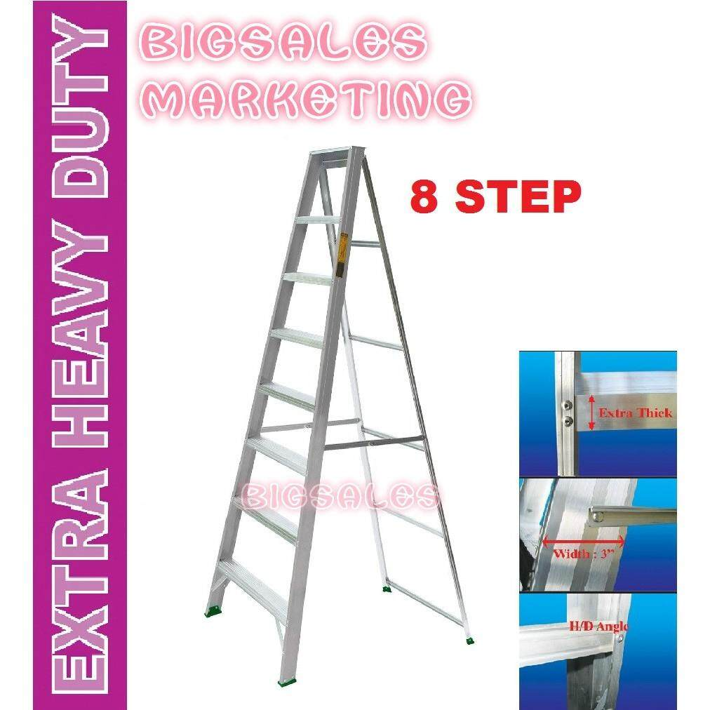 8 Steps BIGSALES Aluminium Single Sided Ladder / Tangga 8 Steps