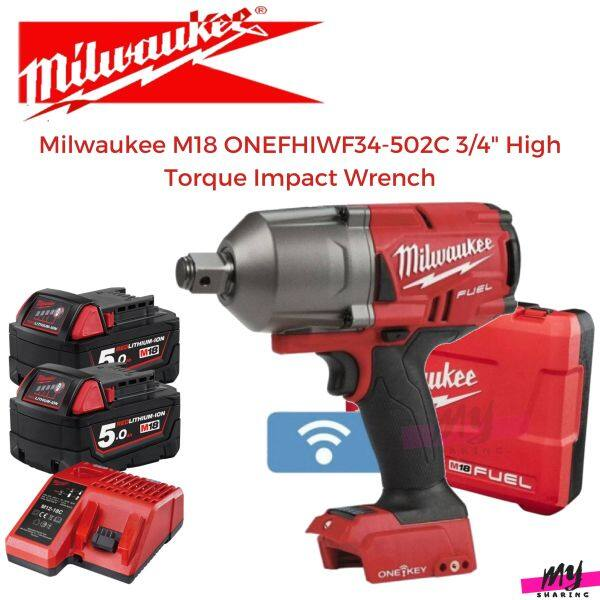 Milwaukee M18 FUEL ONEFHIWF34-502C 3/4 High Torque Impact Wrench