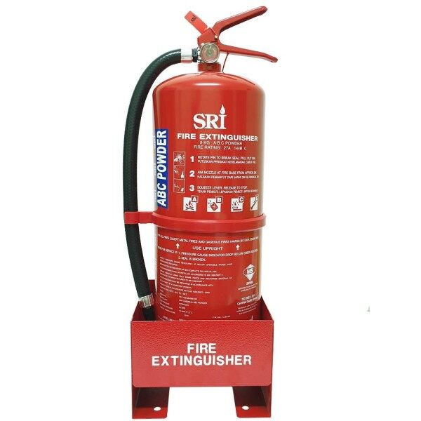 [READY STOCK METAL FLOOR STAND FOR 9KG ABC POWDER FIRE EXTINGUISHER]