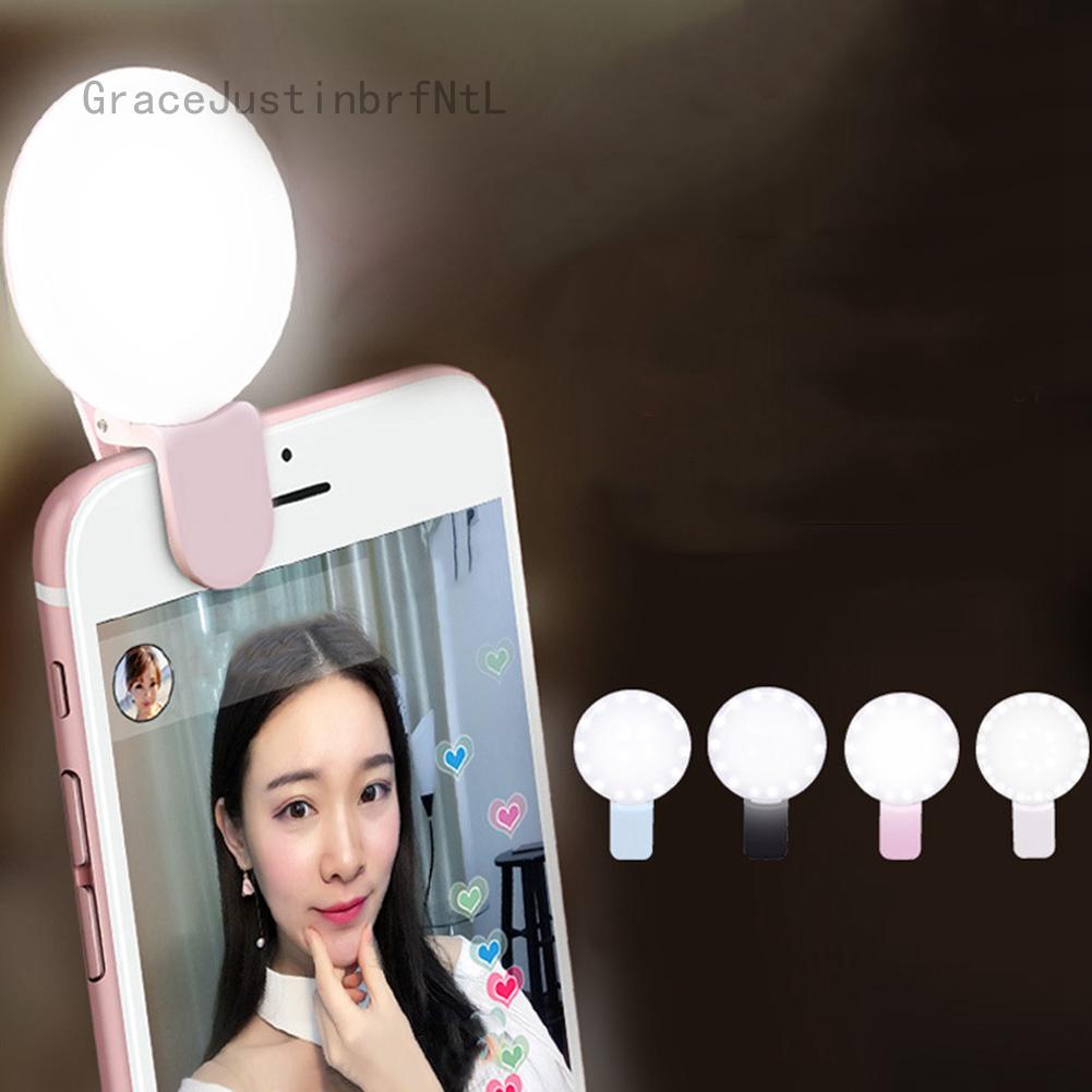 1 Cái Selfie Ring Light Sạc Clip-On 36 LED Điều Chỉnh Điện Thoại Camera Light Để Selfie, Livestream Cho Youtobe Cho Tik Tok