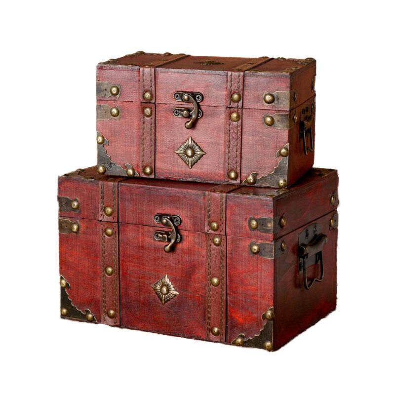Vintage Wooden Storage Box Kinds Of Jewelry and Other Small Items Creative Storage Box Small and Large