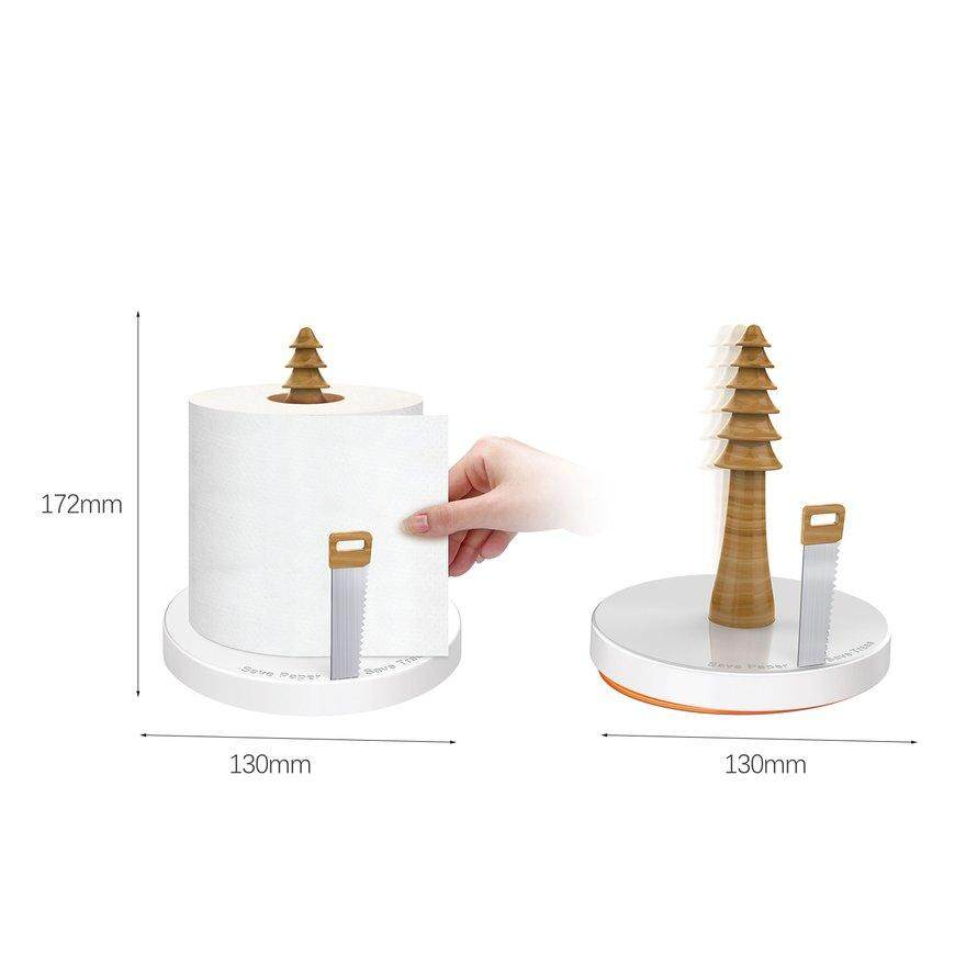 ANEXT Paper Towel Holder Wood Countertop Roll Holder For Kitchen And Home Decor
