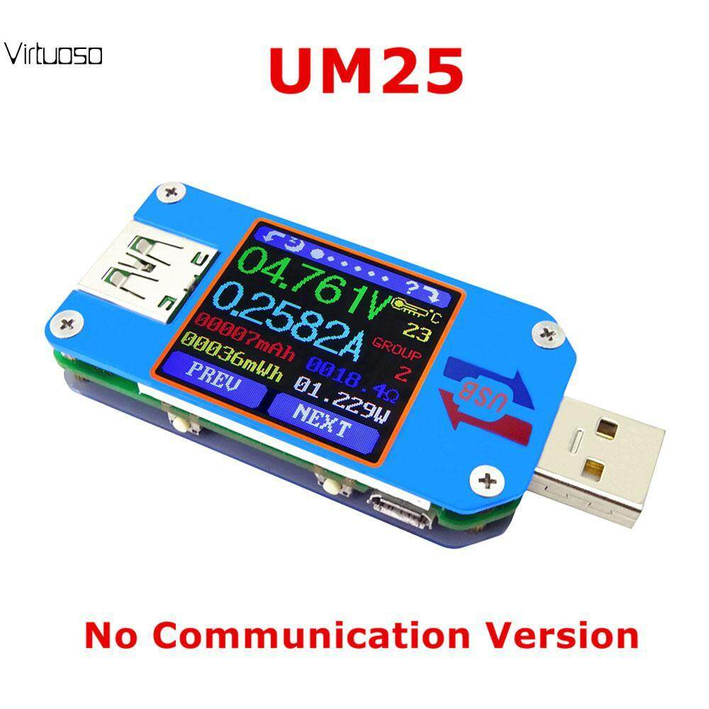 Virtuoso Bluetooth UM25/UM25C Power Capacity Detector Voltmeter Ammeter USB Charger Testers Multimeter Voltage Monitor Testing Meter Battery Tester Current