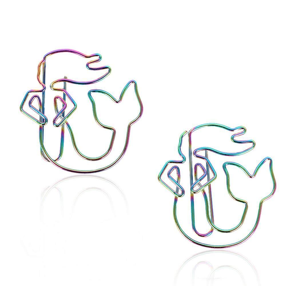 Mua 2 Chiếc Sáng Tạo Giấy Butler Nhà Sưu Tầm Văn Phòng & Dùng Học Rainbow Kẹp Giấy Dấu Nàng Tiên Cá Hình