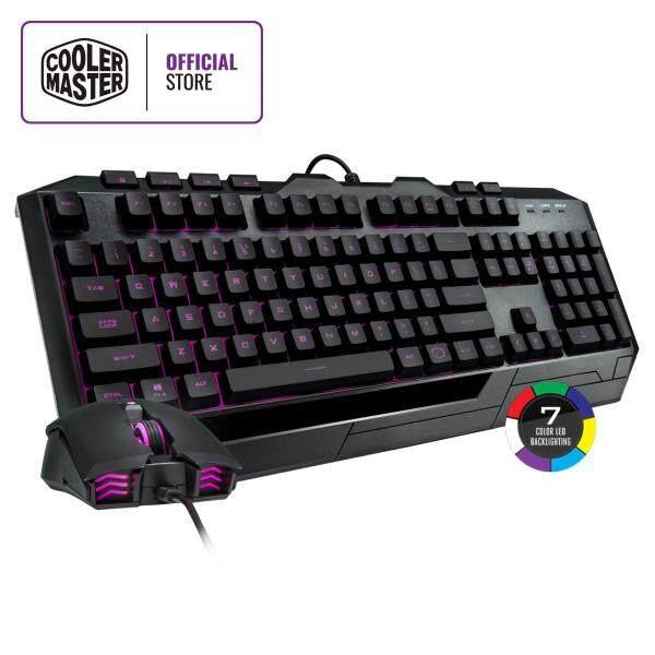 Cooler Master Devastator 3 Plus Keyboard & Mouse Combo, 7 Switchable Color LED Backlight, Mem-chanical Linear Switches, Dedicated Media Keys, Avago Optical Sensor, 2400 DPI Malaysia
