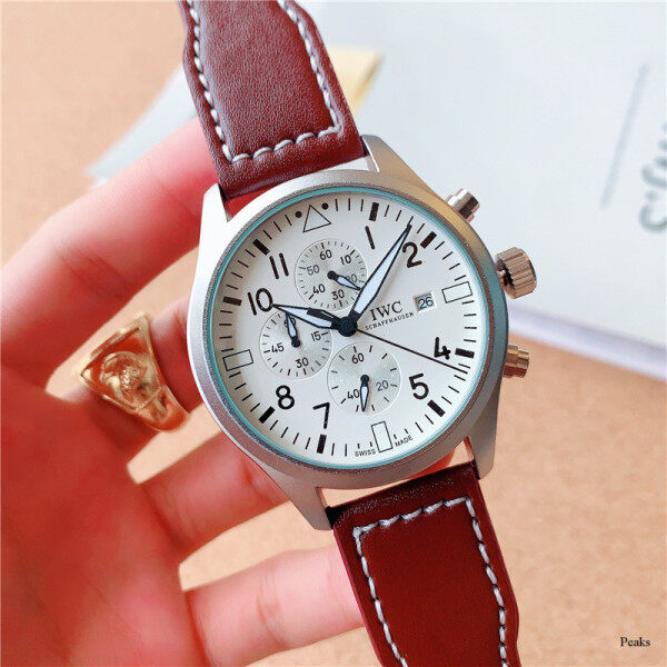 Original IWCs Watch Full Function Quartz Watches Mens Womens Fashion Casual Chronograph Watches Genuine Leather Wristwatch Man Luxury Top Brand Waterproof Watch Malaysia