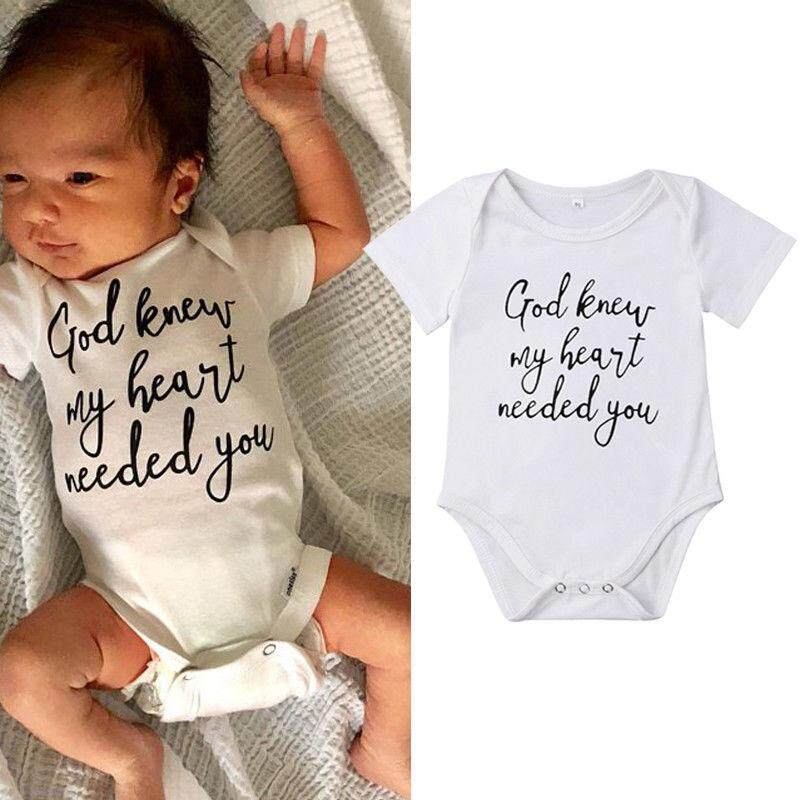 8a89d360bb2 Infant Baby Boy Girls Clothes Letter Print Romper Shirt Jumpsuit Outfits