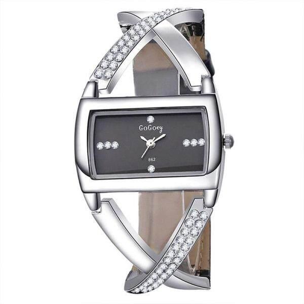 Nơi bán Đồng hồ thạch anh trời trang Nữ cao cấp thiết kế dạng vòng tay tinh tế thích hợp làm quà tặng
