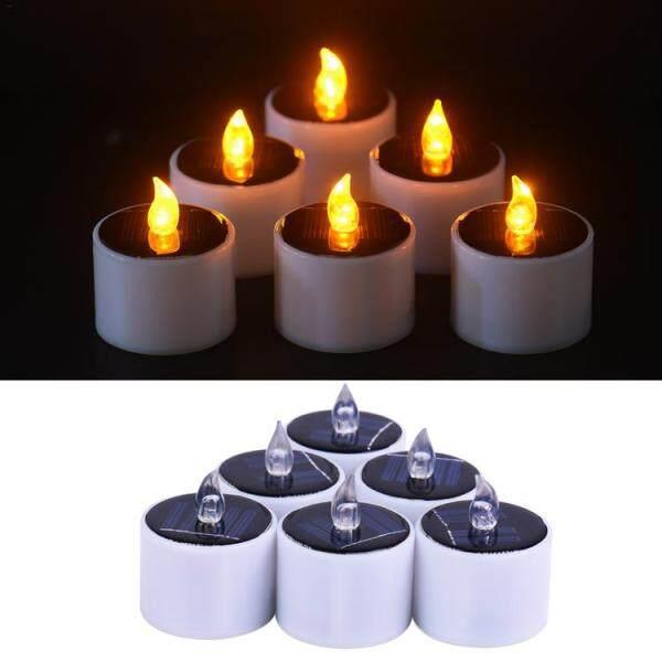 6 Đèn Nến Trà Năng Lượng Mặt Trời Đèn Trang Trí Đèn Vàng, Nhấp Nháy Cho Đèn Ngoài Trời Trong Nhà