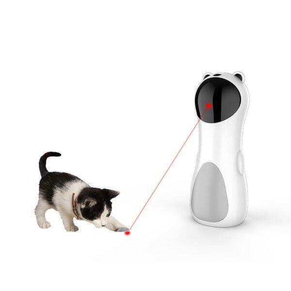 Phí USB Đồ Chơi Vui Nhộn Đèn LED Laser Cho Mèo Thú Cưng Điều Chỉnh Được Nhiều Góc Độ, Đồ Chơi Giải Trí Huấn Luyện Thể Dục Cho Mèo Tự Động Thông Minh