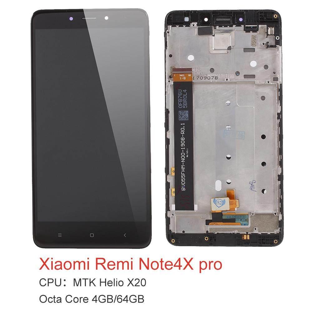 Layar LCD dan Digitizer Pembuatan Bagian Perakitan dengan Frame untuk Xiaomi Redmi Note 4X (Helio MTK X20 4 GB + 64 GB versi)