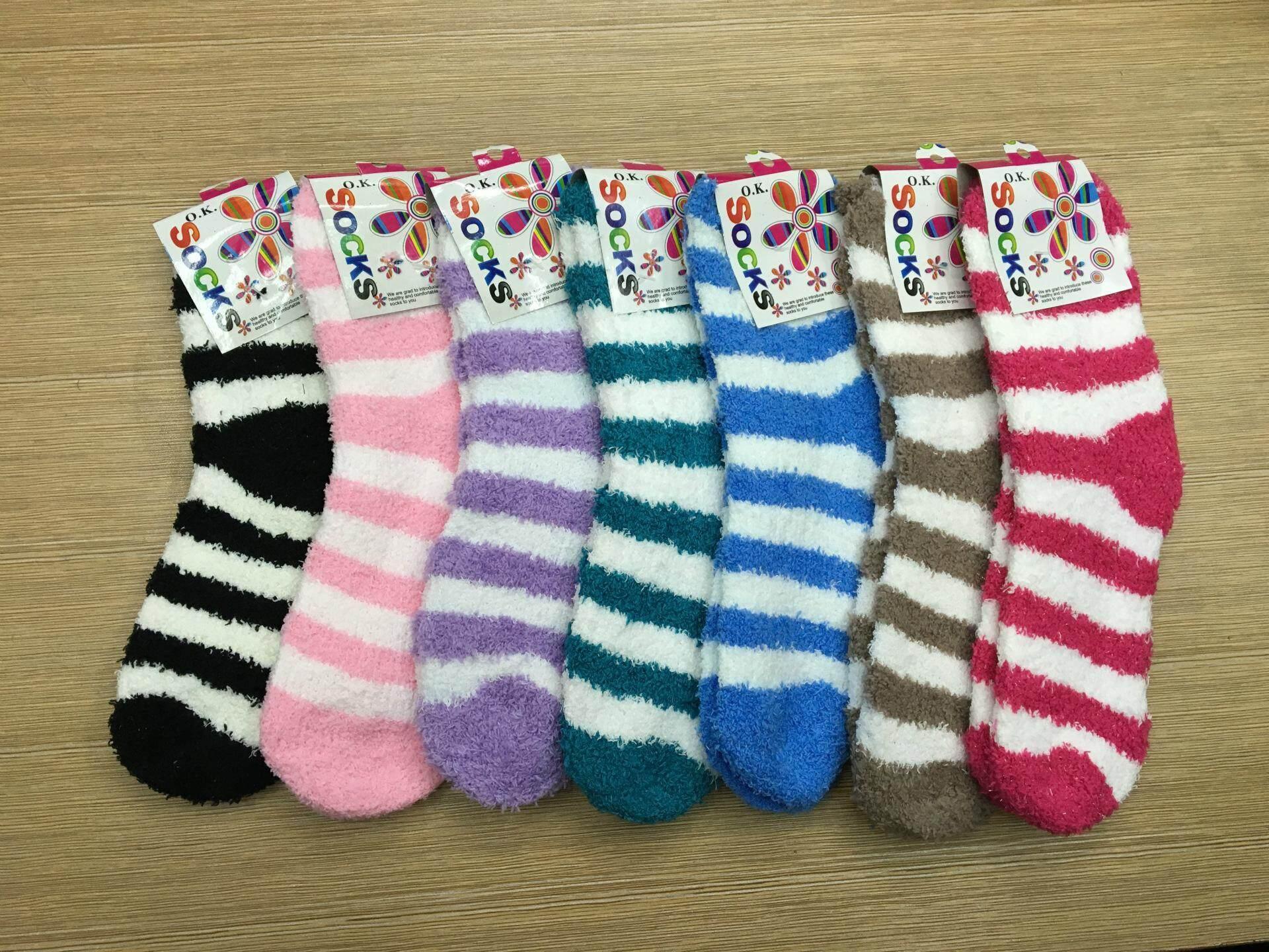 Combo 3 Pairs Confinement Socks Stokin Pantang Bulu Lembut Fur Plain Zebra By Myheart Shoppe.