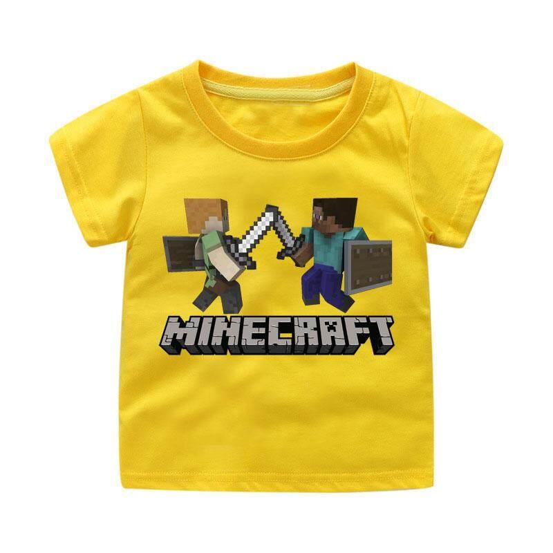 1795f37a88a1b Children Tops Costume Boy 3D Minecraft Printing T-shirt Clothing Girls T  Shirt for Kids