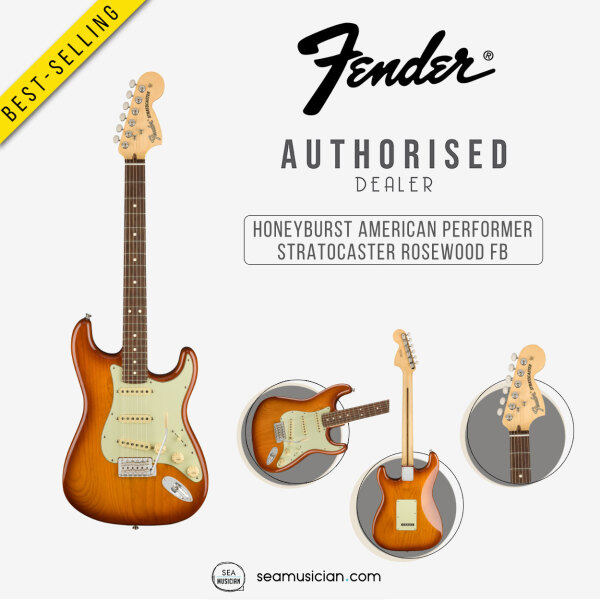 FENDER AMERICAN PERFORMER STRATOCASTER ELECTRIC GUITAR WITH ROSEWOOD FINGERBOARD 0114910342 HONEYBURST (SEAMUSICIAN) Malaysia