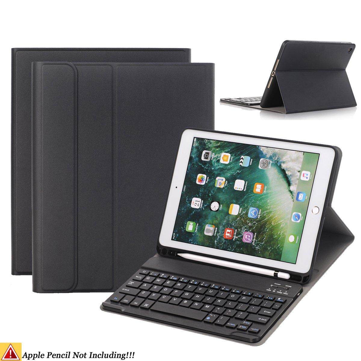 For Ipad Keyboard Case,slim Soft Tpu Case Built-In Pencil Holder With Removable Detachable Keyboard For Ipad Mini 5 2019/ipad Air 3 10.5 2019/ipad Pro 11/ Ipad 9.7 2018/ipad 2017 By Zhuyuli Co Ltd.