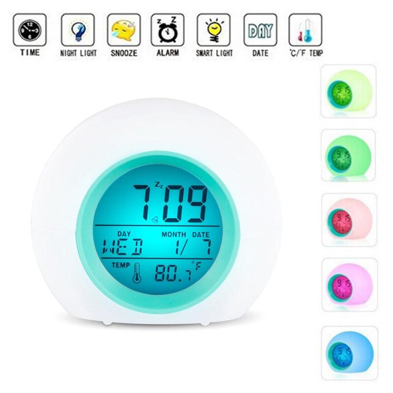 Nơi bán 【Alarm Clock】Light Nhiệt Kế Kỹ Thuật Số, Đèn Đổi Màu 7 Màu Đồng Hồ Phát Sáng Ban Đêm Cho Trẻ Em 1 Chiếc