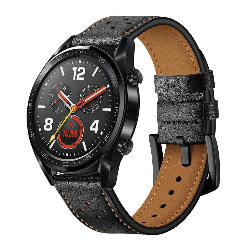 842af4f58b74 Philippines. For Huawei Watch GT Genuine Leather Watch Band Wrist Strap