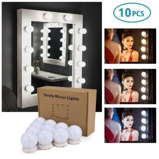Bộ 10 Bóng Đèn LED Trang Điểm Gương Trang Điểm, Gương Trang Điểm Có Thể Điều Chỉnh Độ Sáng 3 Cấp Độ Mỹ Phẩm Đèn thumbnail