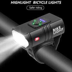 Đèn LED Phía Trước Xe Đạp T6, Đèn Phía Trước, Sạc USB 6 Chế Độ, Có Thể Sạc Lại Bằng USB