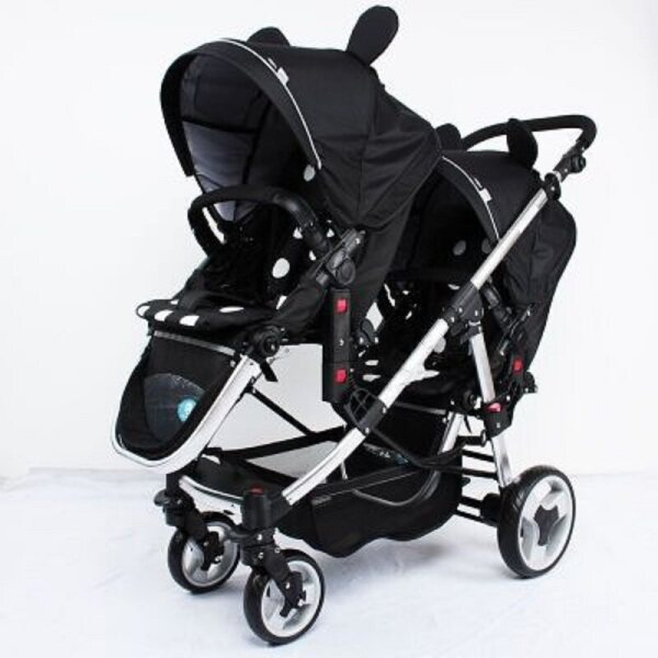 Multifunctional Twin Baby Stroller Light Can Sit Flat Double Trolley Two-way Folding Baby Car Singapore