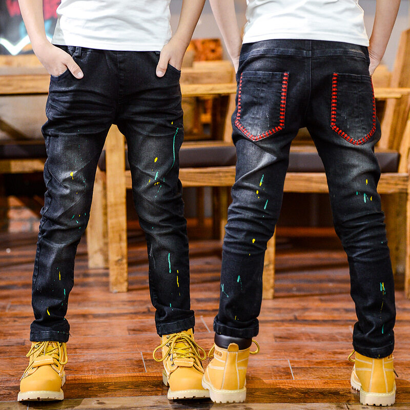 Children's trousers 2019 spring and autumn new children's clothing boy Korean version of the dump black jeans