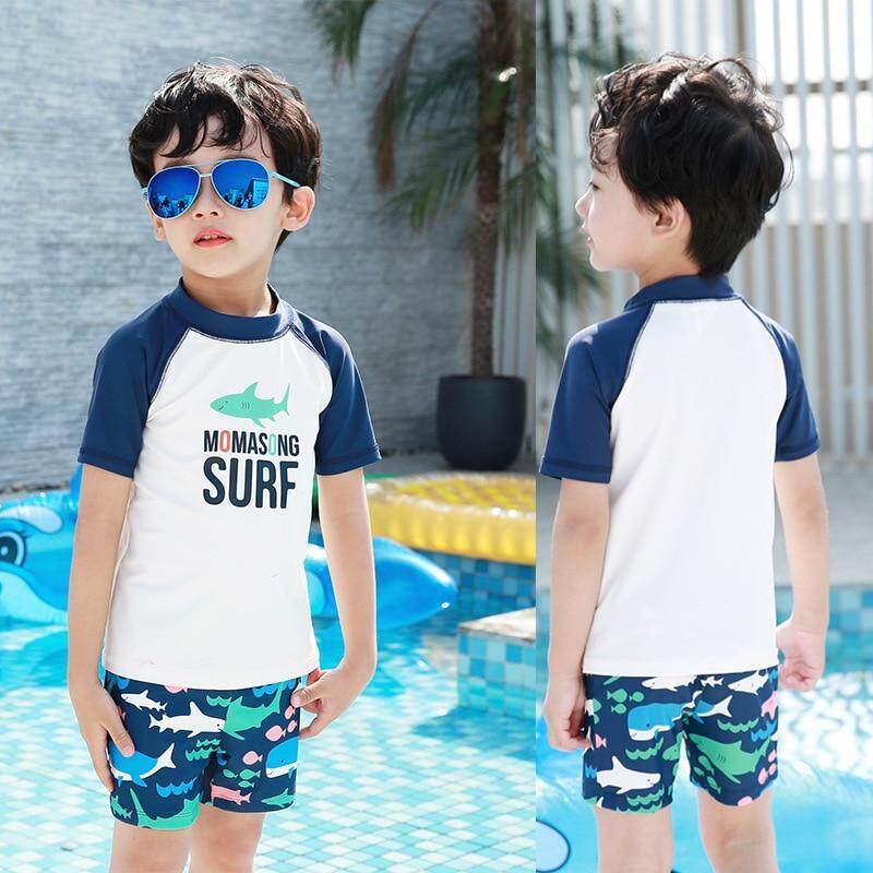 f232e3b701 Summer Toddler Boy Beach Swimwear Children Two Piece Surfing Swimsuit Kids  Swim Sports Bathing Suit