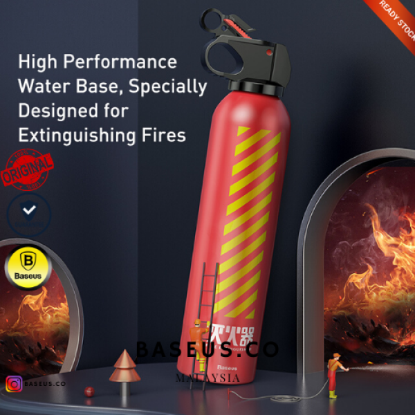 Baseus Fire-fighting Hero Car Fire Extinguisher Red