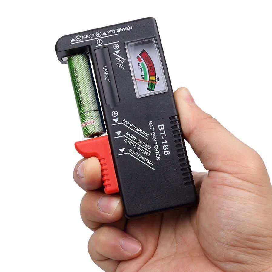 Battery Tester - Universal Button Cell Volt Checker BT-168 - New AA/AAA/C/D/9V/1.5V