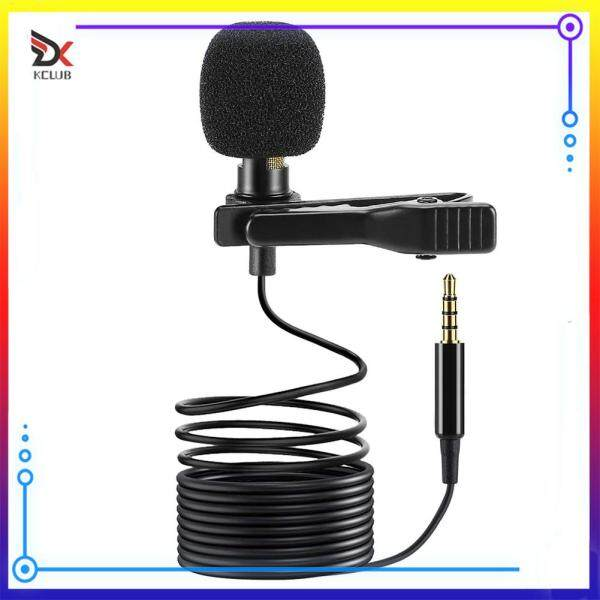 Clip-on Mic 3.5mm Lavalier Lapel Microphone + Adapter Set for Phone PC Laptop Audio Equipment Singapore