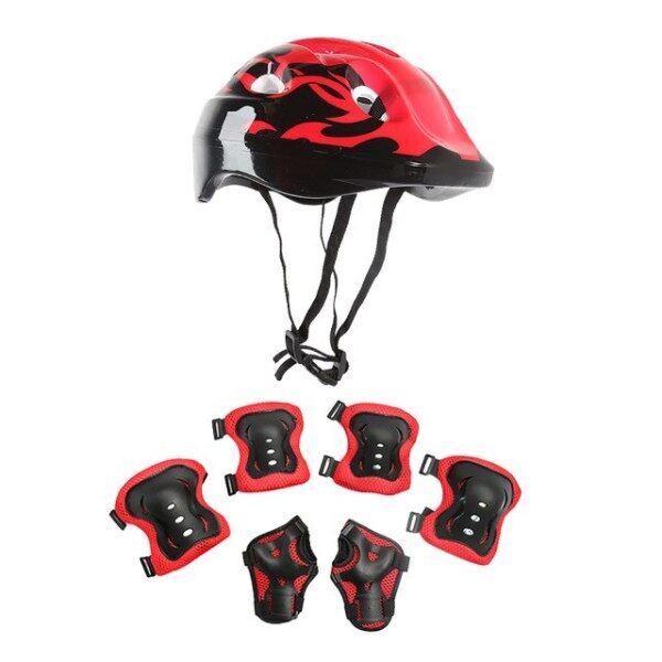 Mua 7 Cái/bộ Mũ Bảo Hiểm Bảo Vệ Trẻ Em Trượt Băng Xe Đạp 53-54Cm Bánh Răng Mũ Bảo Hiểm Trẻ Em Trẻ Em, Mũ Bảo Hiểm Xe Đạp Xe Tay Ga BMX Đầu Gối