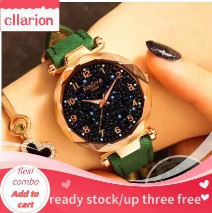 CllarionHomesteader Star Calling Watches Womens Fashionable Simple Temperament Waterproof Magnet Mesh Quartz Watch Malaysia