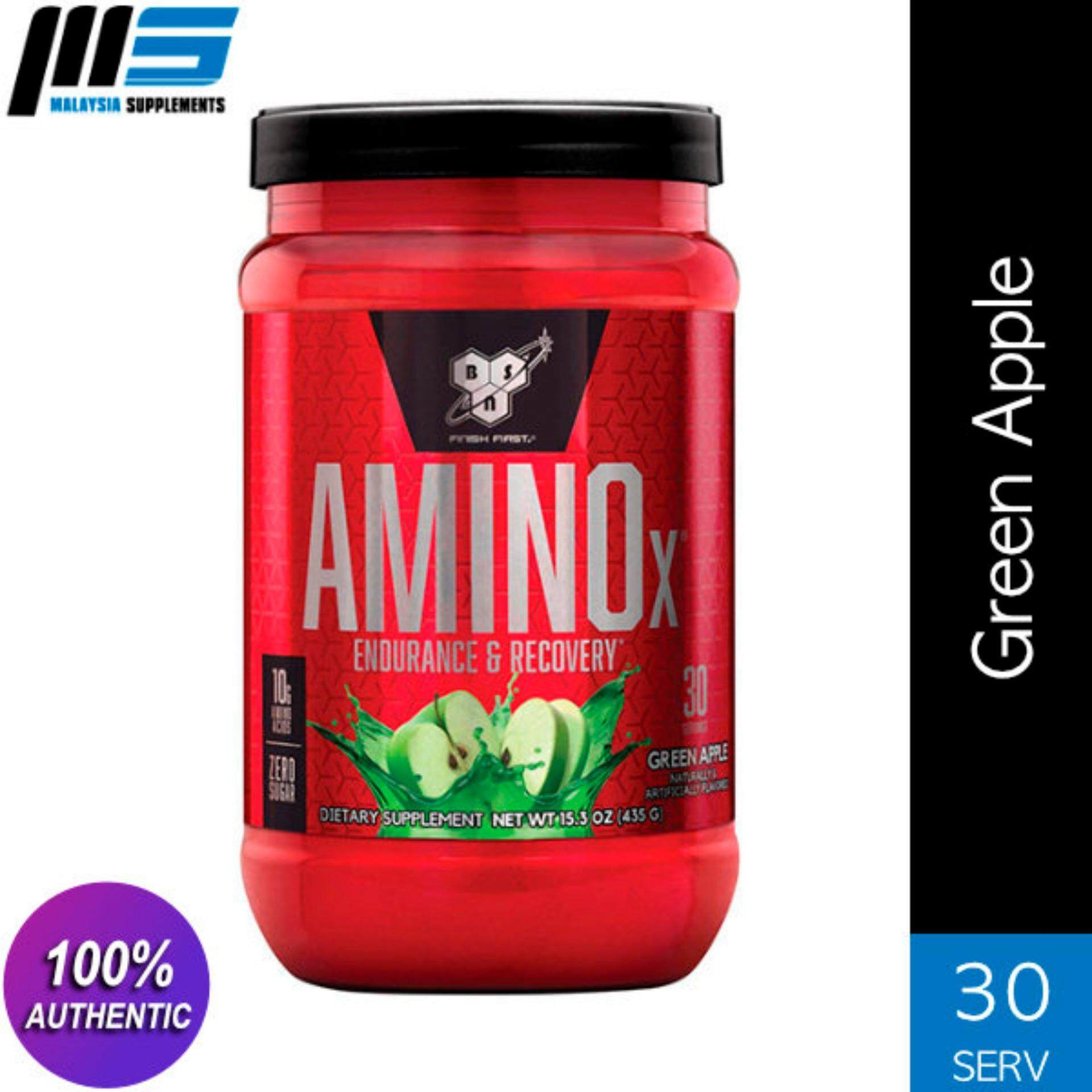 Bsn Amino X, Green Apple, 30 Servings By Malaysia Supplements.