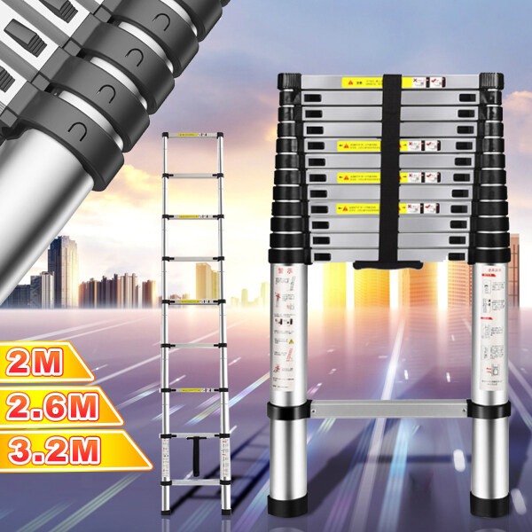 7/9/11FT Folding Multi-Purpose Telescopic Extension Ladder Aluminum Heavy