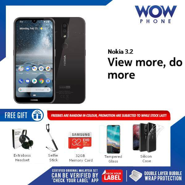 NOKIA 3 2 (3GB RAM / 32GB ROM) MALAYSIA SET!! 1 YEAR WARRANTY BY NOKIA  MALAYSIA!! EXCLUSIVE FREEBIES ONLY ON WOWPHONE!!