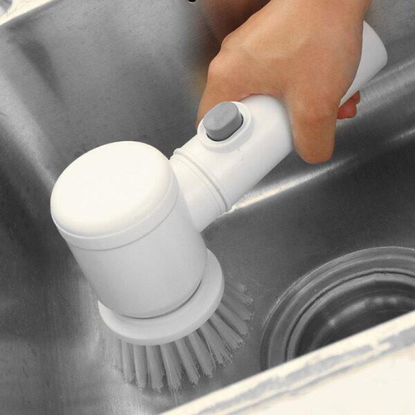 Máy chà sàn điện cầm tay heuv, dụng cụ cọ rửa vệ sinh nhà bếp