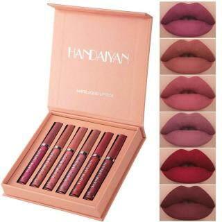 Set Lip Gloss Matte Anti Air, Set Lip Gloss Matte, Anti Lengket, Kotak Hadiah, Set Lip Gloss Matte, Anti Air, Tidak Lengket thumbnail