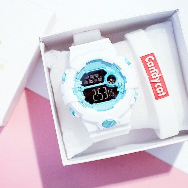 insWatch Female Middle School Student Korean Style Simple Fashion Waterproof Sports Male Harajuku College Style Multifunctional Electronic Watch Malaysia