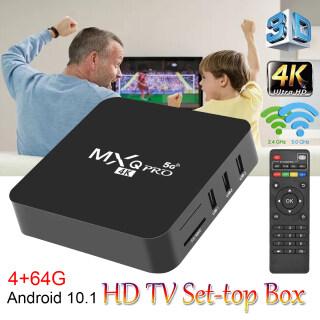 MXQPRO 4GB 64GB Android 10.1 TV BOX 2 Băng Tần 3D Điện Áp Rộng 2.4G + 5G WIFI 4K HDR Pulierde Android Box Quad Core Media Player IPTV thumbnail