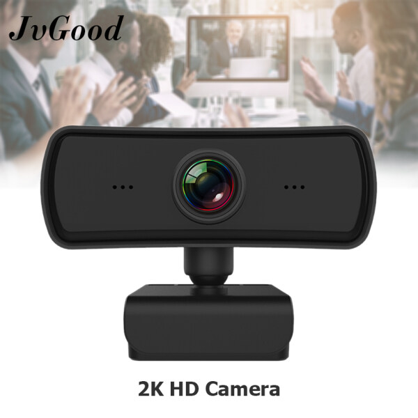 JvGood Webcams 2K Webcam HD Computer PC WebCamera with Microphone Rotatable Cameras Resolution 2560X1440 for Live Broadcast Video Calling Conference Work