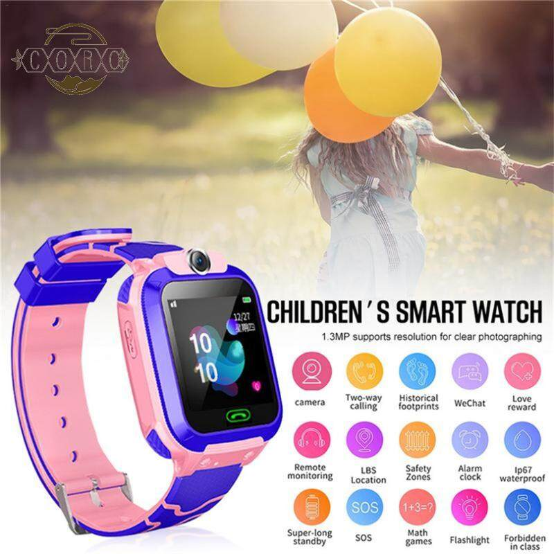 Q12B Smart Watch for Kids Phone Watch for Android Ios Life Waterproof LBS  Positioning 2G Sim Card Dail Call