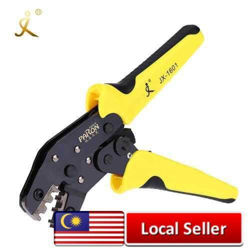 PARON Professional Wire Crimpers Engineering Ratchet Terminal Crimping Pliers JX-48B 3.96 to 6.3mm 26-16AWG Crimper 0.14-1.5mm² for Dupont