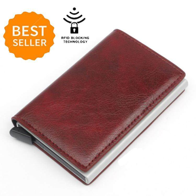 43f648e54025 Men Slim Wallet Rfid Minimalist Secure Thin Credit Card Holder Metal  Aluminum Wallet