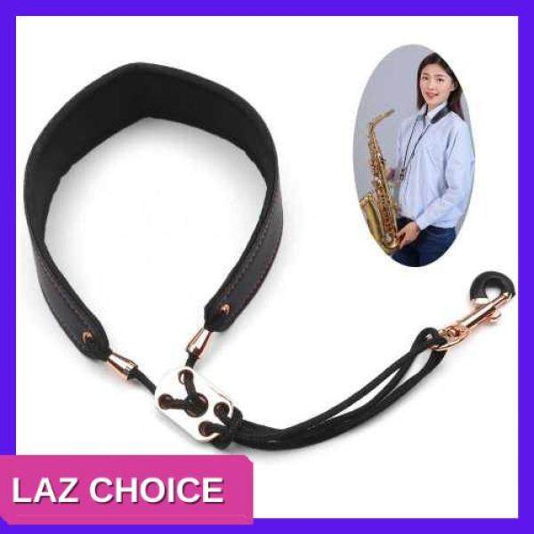LAZ CHOICE Adjustable Saxophone Neck Strap Leather Sax Strap Metal Hook for Tenor/ Soprano/ Alto Saxophones Clarinet (Standard) Malaysia