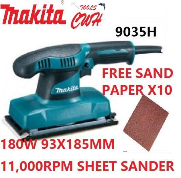 MAKITA 9035H 93X185MM 180W FINISHING SHEET SANDER RANDOM ORBIT SANDING